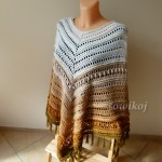Ponczo Earth z frędzlami