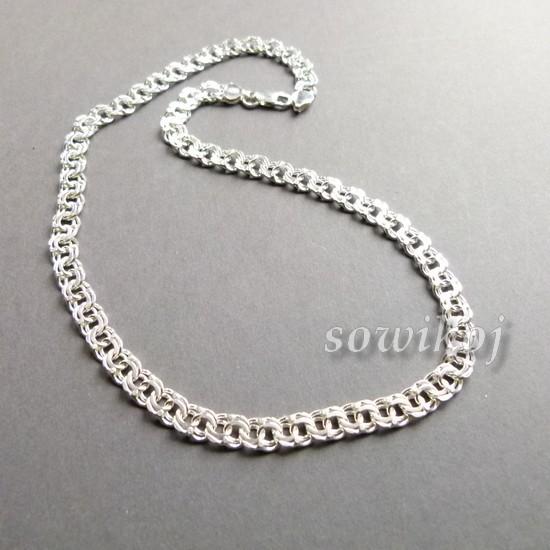 Garibaldka łańcuszek Srebrny Gruby 1 1 Sowikoj Autorska Biżuteria I Rękodzieło